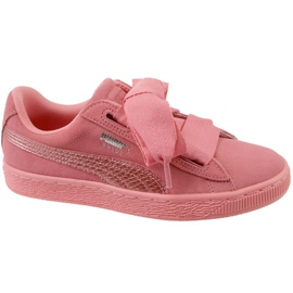 Chaussures Puma Suede Heart Snk Jr 364918-05 rose