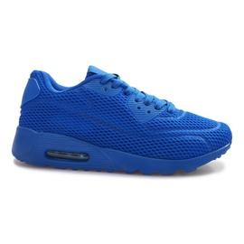 Chaussures de sport en maille bleue
