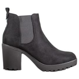 SHELOVET Escarpins à talons confortables noir