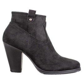 Ideal Shoes Bottines noires occasionnels