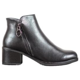 J. Star Bottes chaudes avec cuir écologique noir