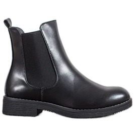 SHELOVET Bottines à enfiler noir