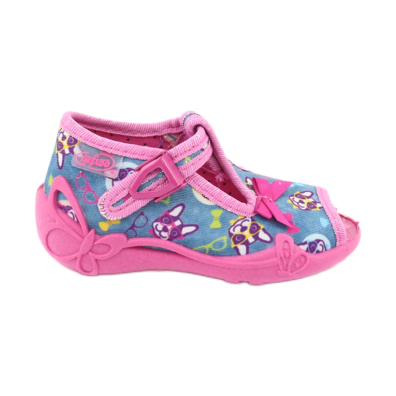 Chaussures enfant rose Befado 213P113