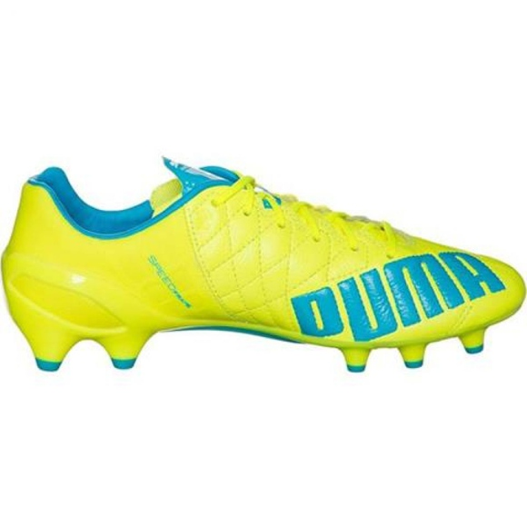 Puma Evo Speed ​​1.4 Lth Fg M 103615 03 chaussure de football jaune jaune