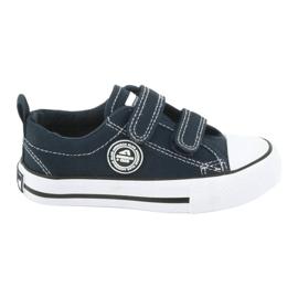 Sneakers Velcro américaines bleu marine American Club LH35