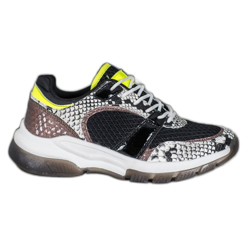 Kylie Sneakers confortables de Snake Print multicolore
