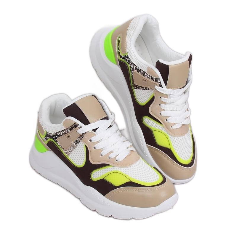 JD01P Blanc chaussures de sport pour femmes multicolore