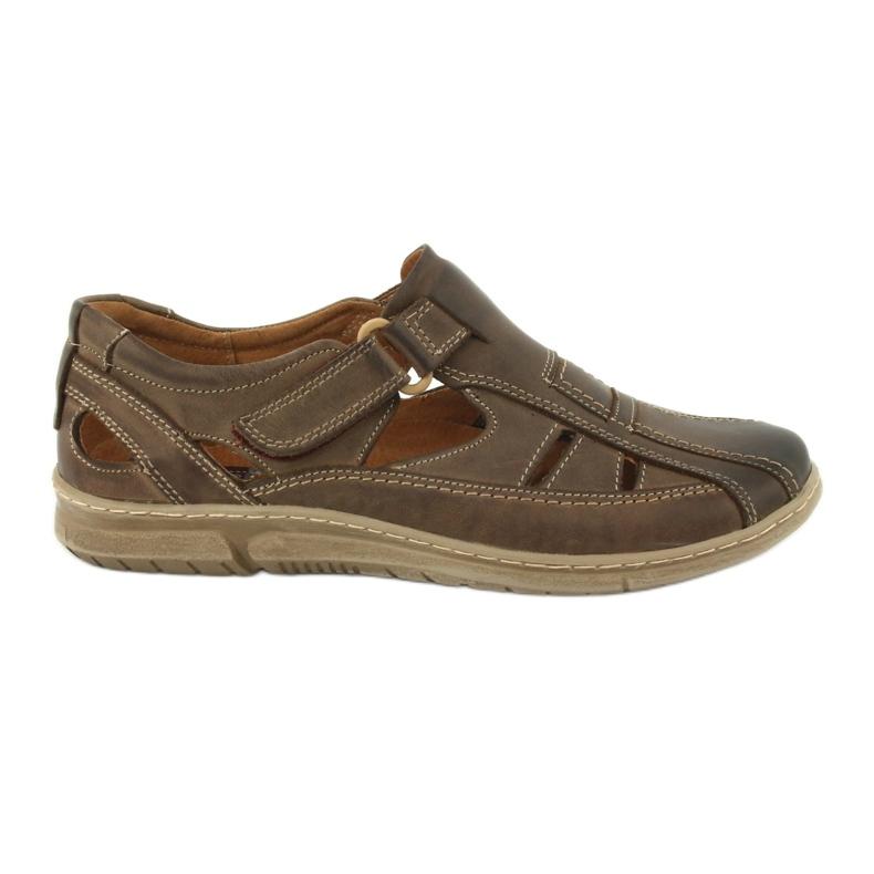 Riko 458 sandales de confort pour hommes brun