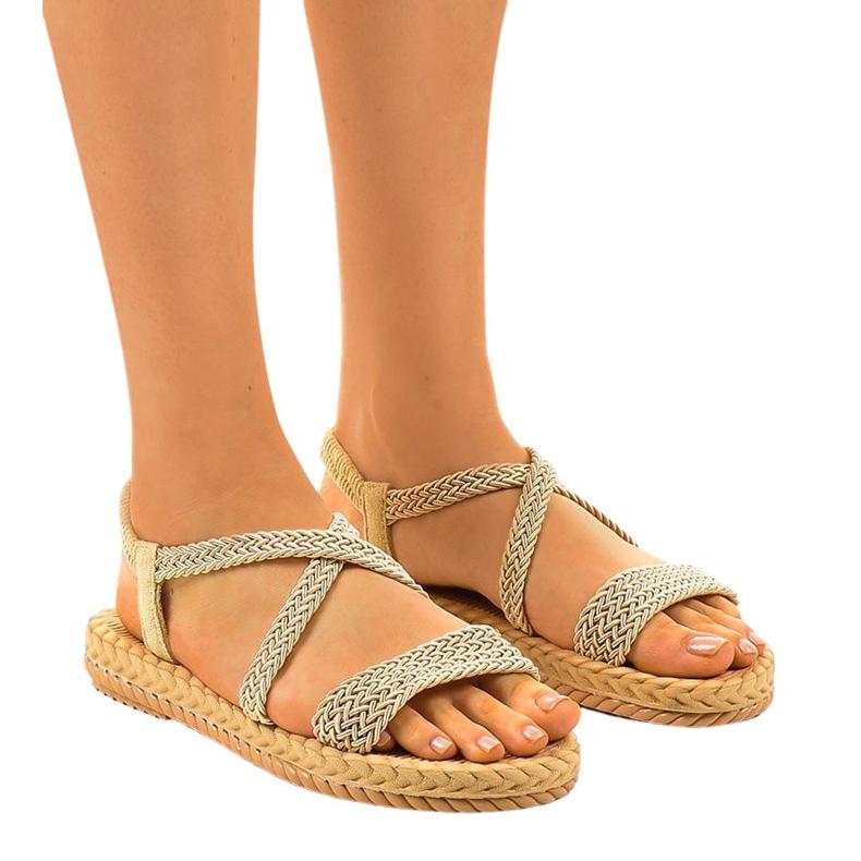 Sandales femme C602 beiges brun