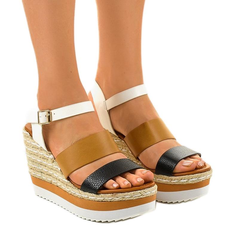 Sandales compensées espadrilles noires VB76062