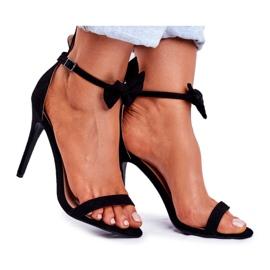 SEA Sandales pour femmes à talons hauts oreilles de lapin Black Honey Bunny noir
