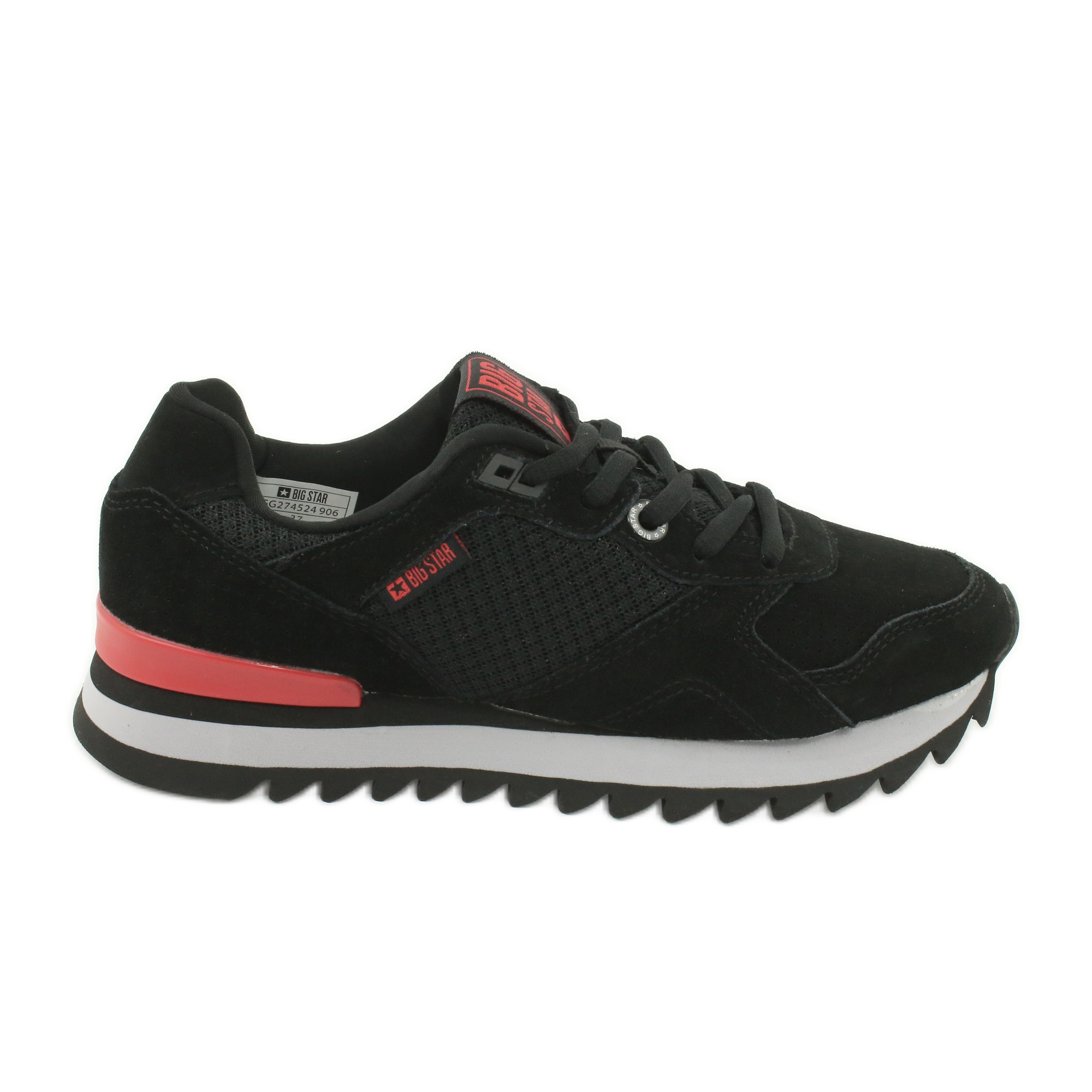 Chaussures de sport BIG STAR GG274524 noir rouge