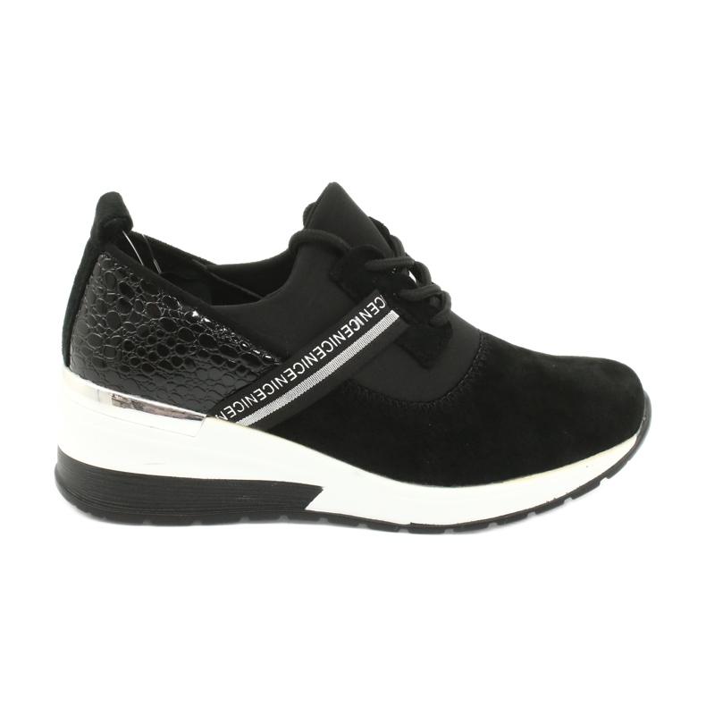 Filippo Chaussures de sport en cuir Slipony DP1388 / 20 BK Nice