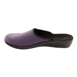 Befado, chaussures de ville, chaussons 552D006 pourpre multicolore 2