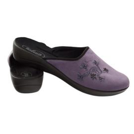 Befado, chaussures de ville, chaussons 552D006 pourpre multicolore 3