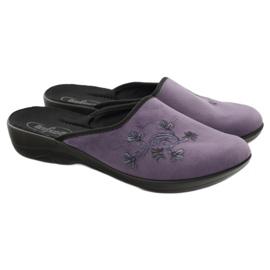 Befado, chaussures de ville, chaussons 552D006 pourpre multicolore 4
