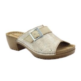 Clip pantoufles INBLU BL061 argent beige 1