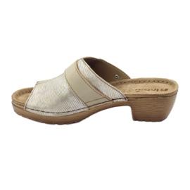 Clip pantoufles INBLU BL061 argent beige 2