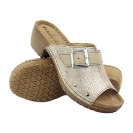 Clip pantoufles INBLU BL061 argent beige 3