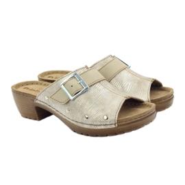Clip pantoufles INBLU BL061 argent beige 4
