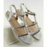Sandales avec perles grises RC-33 Grey image 3