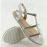 Sandales avec perles grises RC-33 Grey image 1