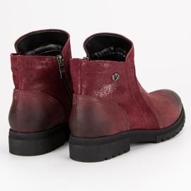 Bottes VINCEZA en cuir confortables rouge 5