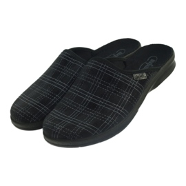 Chaussures Befado pour hommes, chaussons 548m011 noir 3