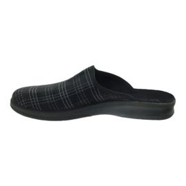 Chaussures Befado pour hommes, chaussons 548m011 noir 2