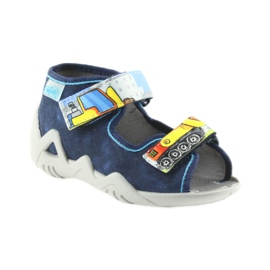 Befado pantoufles sandales chaussures enfants 250P077 marine 1