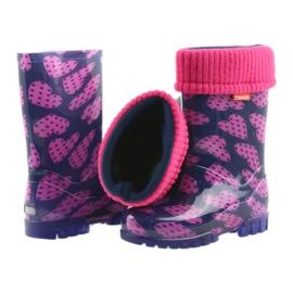 Bottes en caoutchouc Demar enfants chaussettes chaudes coeurs 5