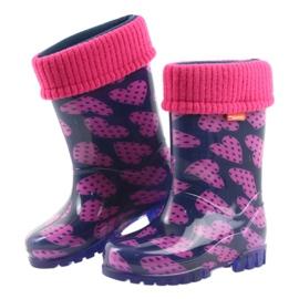 Bottes en caoutchouc Demar enfants chaussettes chaudes coeurs 4
