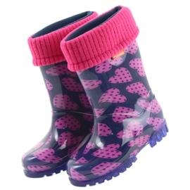 Bottes en caoutchouc Demar enfants chaussettes chaudes coeurs 3