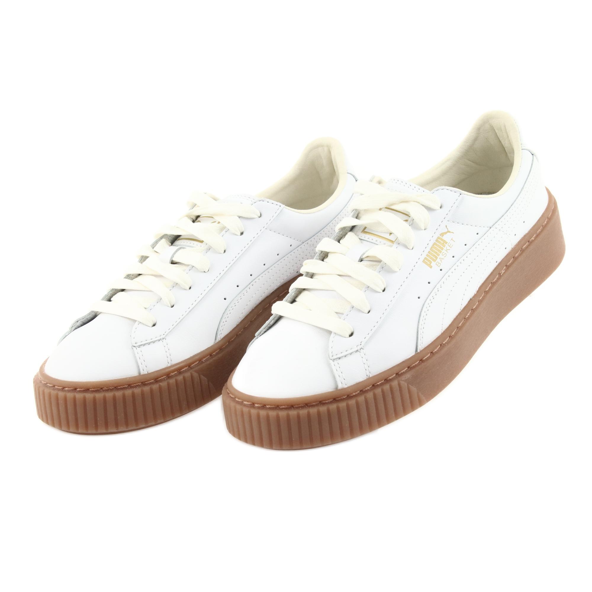 Puma Basket Platform Core W chaussures blanc marron