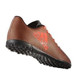 Chaussures de foot adidas X 17.4 Tf Jr S82422 orange noir, orange 1