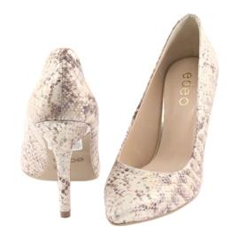Chaussures femme Edeo 3313 peau de serpent 4