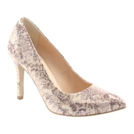 Chaussures femme Edeo 3313 peau de serpent 1