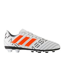 Chaussures de foot adidas Nemeziz Messi 17.4 FxG Jr S77200 blanc 1