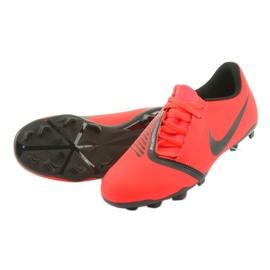 Chaussures de football Nike Phantom Venom Club Fg Jr AO0396-600 rouge 5