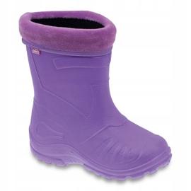 Befado chaussures pour enfants kalosz-fiolet 162X102 pourpre 1
