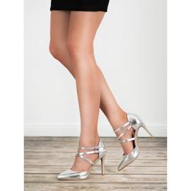 Kylie Goujons de mode brillants gris 1