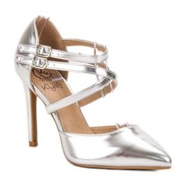Kylie Goujons de mode brillants gris 3