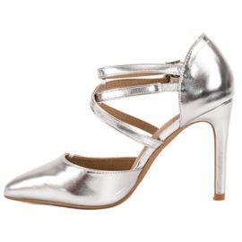 Kylie Goujons de mode brillants gris 4
