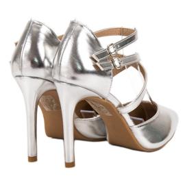 Kylie Goujons de mode brillants gris 5