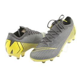 Chaussures de football Nike Mercurial Vapor 12 Elite Ag Pro M AH7379-070 gris gris / argent 3