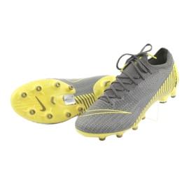 Chaussures de football Nike Mercurial Vapor 12 Elite Ag Pro M AH7379-070 gris gris / argent 4
