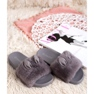 Vinceza Pantoufles grises avec fourrure 6