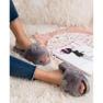 Vinceza Pantoufles grises avec fourrure image 2