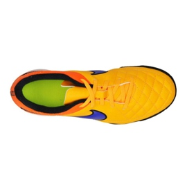 Chaussures de football Nike Tiempo Rio Ii Tf Jr 631524-858 multicolore orange 1