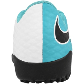 Chaussures de football Nike HypervenomX Phelon Iii Tf Jr 852598-104 blanc, bleu bleu 2